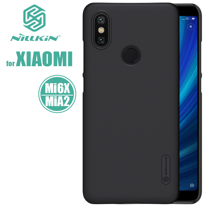 Xiaomi Mi A2 Case Nillkin Super Frosted Shield Hard PC Back Cover Case Xiaomi Mi 6X Phone Case for Xiaomi MiA2 Mi6X Nilkin Coque