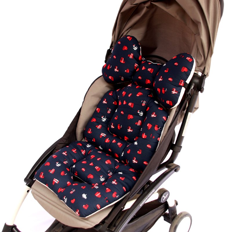Baby Stroller Cotton Pad Childrens Chair Cushion Seat Thicken Cushion Fashion Baby Diaper Stroller Cushion Cotton Stroller Activity & Gear Strollers Accessories