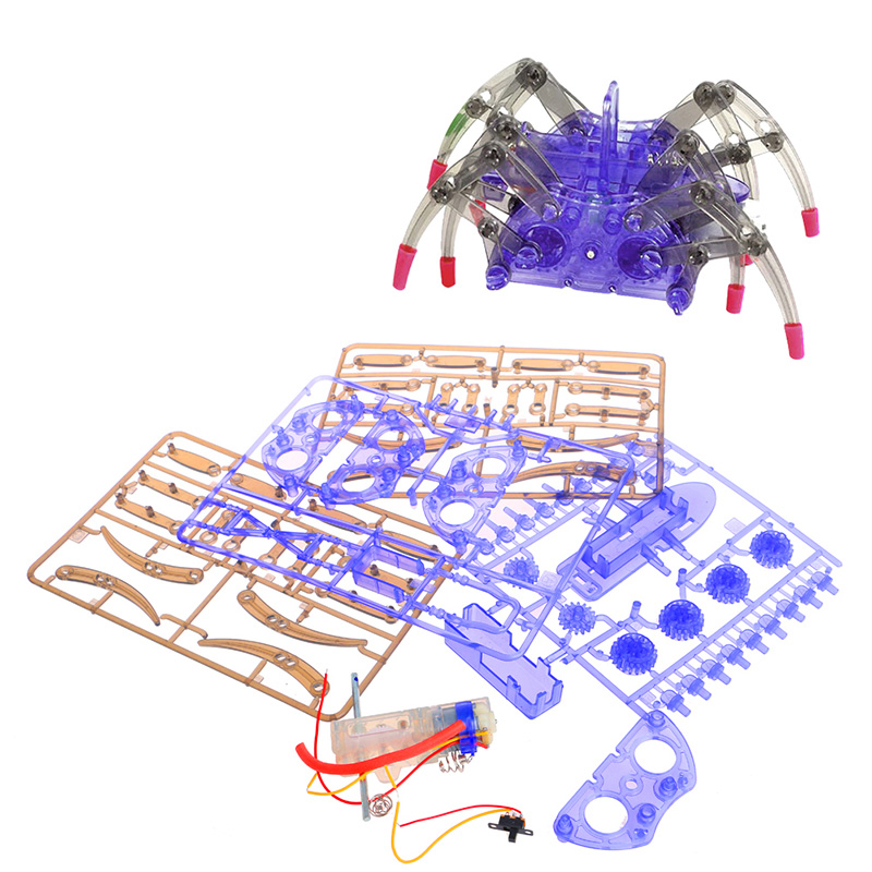 Electric Spider Robot DIY Toy Educational Assembles Model Handwork For Kids Toy Gift