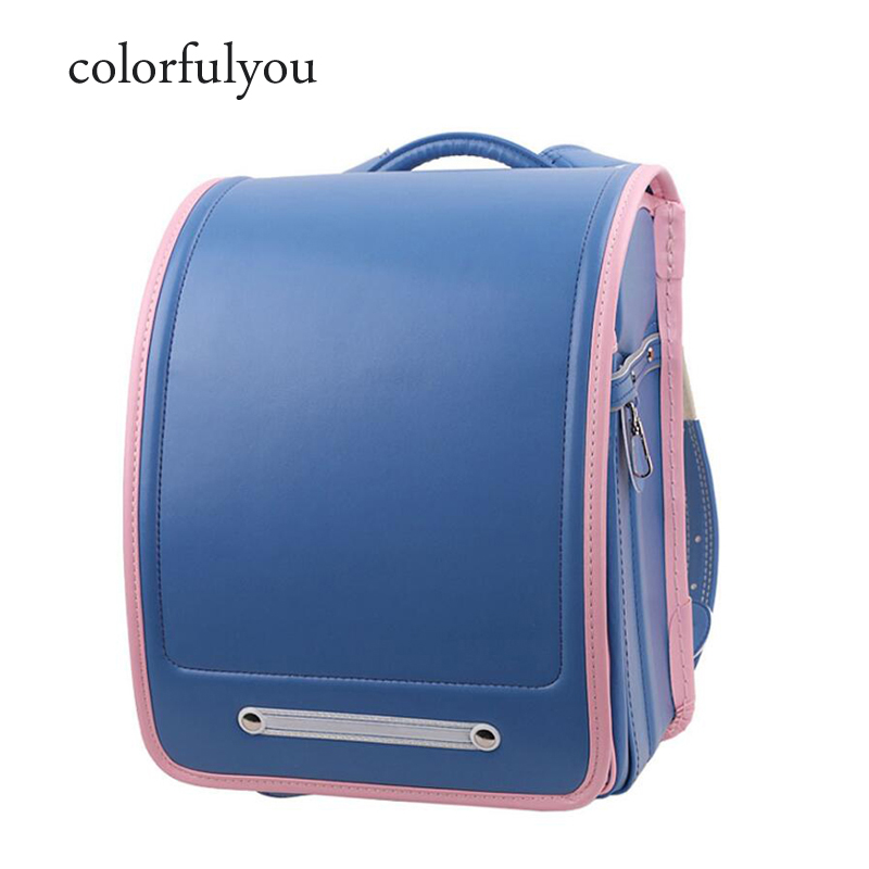 Colorfulyou 2019 Japanese School backpack kids Waterproof PU school bag Student Orthopedic Randoseru Metal buckle box book bagColorfulyou 2019 Japanese School backpack kids Waterproof PU school bag Student Orthopedic Randoseru Metal buckle box book bag