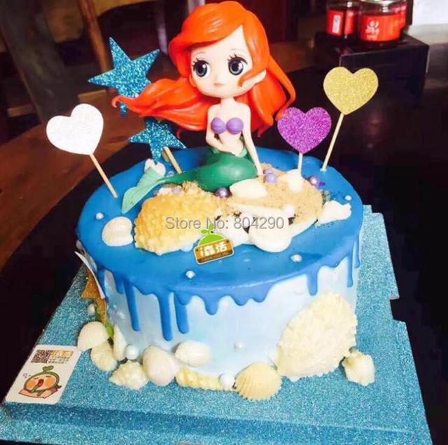 Pretty Mermaid Cake Decoration Children Birthday Party Wedding Cake