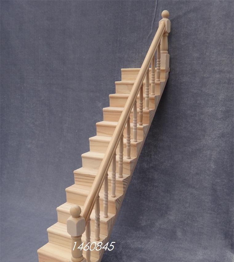 casa de muecas muebles mini escaleras con pasamanos de madera casa de muecas