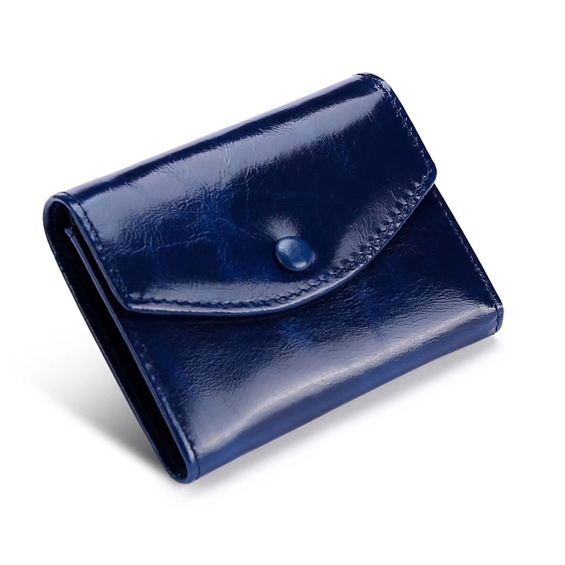 Cartera Mujer New Arrivals Premium 100% Cowhide Women's Wallet High Quality Genuine Oil Waxing Leather Female Wallets Hot Sales