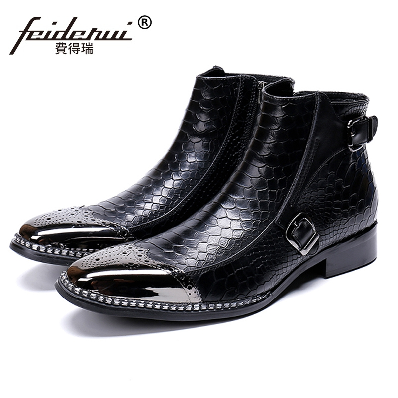 British Designer Handmade Man Brogue Footwear Round Toe High-Top Shoes Genuine Leather Mens Riding  Ankle Boots SL486British Designer Handmade Man Brogue Footwear Round Toe High-Top Shoes Genuine Leather Mens Riding  Ankle Boots SL486