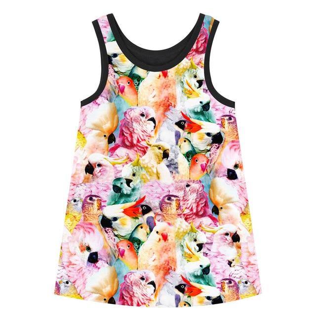 fb8c2a75230e Girls Dresses big brand Print Children Designer baby Kids Clothes ...
