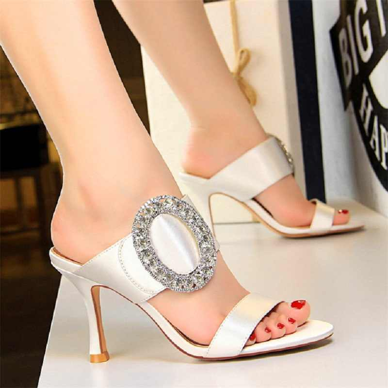 eba5c813dc Fashion Shoes women slippers Open Toe Crystal platform sandals Sexy Party  Shoes pumps Women High Heels shoes Outdoor Slippers