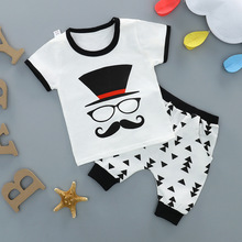 Boys Clothes Suit For The Baby Clothes Summer Children Cotton T shirt + Shorts Cartoon 1 2 3 4 5 Year Sports Outfit For Boy стоимость