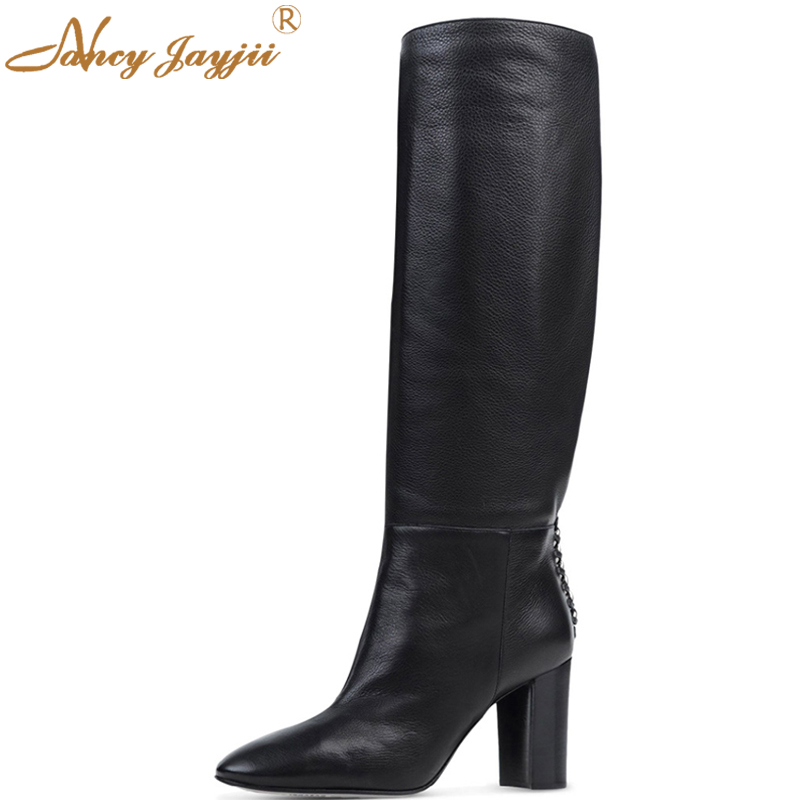 BC Women Winter Snow Black Round Toe High Heels Knee High Warm Zipper Boots Shoes for Woman,Zapatos Botas Mujer Plus Size 4-16 steinmeyer часы steinmeyer s801 13 21 коллекция figure skating