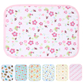 Baby Reusable Nappy Kids Diapers Mattress Waterproof Sheet Changing Mat Cotton Baby Crib Stroller Pram Bed S M 70cm X 50cm