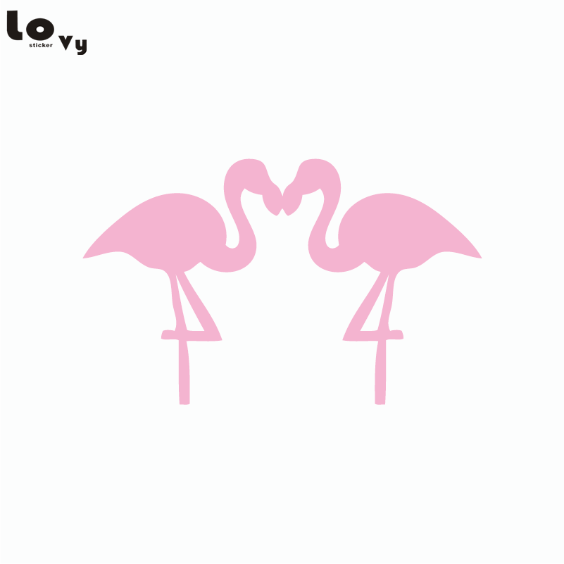 Couple flamingo birds silhouette wall sticker cartoon animals vinyl wall decal home decor in wall stickers from home garden on aliexpress com alibaba