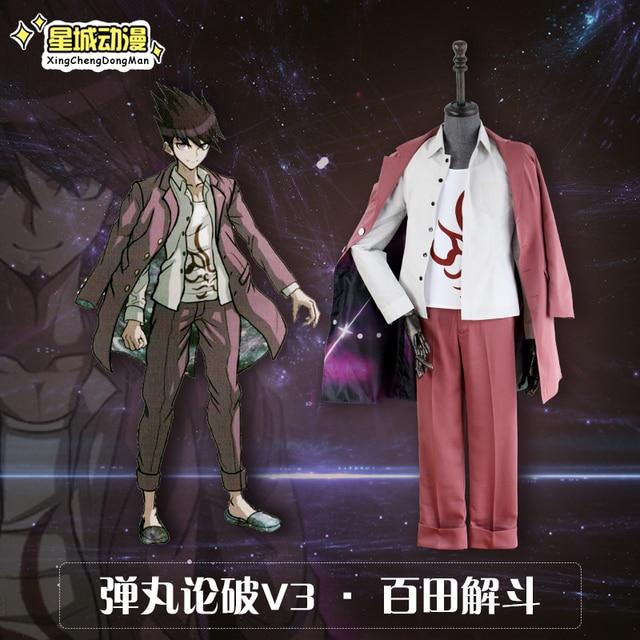 2017 New Anime Danganronpa V3 Momota Kaito School Astronaut Cosplay Costume  Halloween Carnival Full Set Free e47c387f2c10