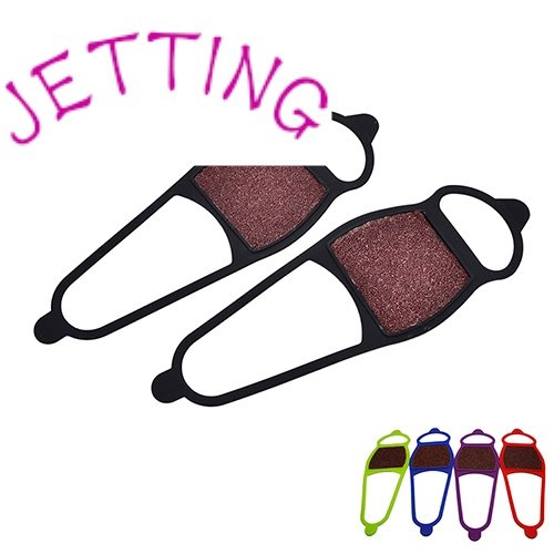 JETTING Silcone Anti Slip Shoe Boot Grips Ice Cleats Spikes Snow Gripper Non Slip Crampons Ice Gripper Random Color