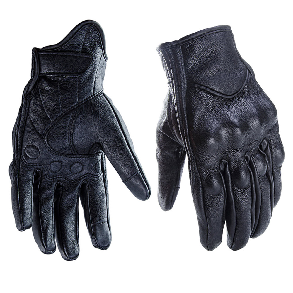 FLY5D Leather Seamless Motorcycle Cross Country Gloves Touch Screen Men Women Gloves Soft Warm Suitable For