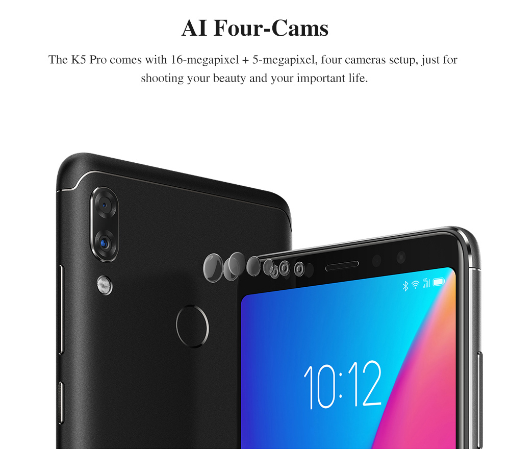 Global Version Lenovo K5 Pro 4GB 64GB Snapdragon636 Octa Core Smartphone Four Cameras 5.99inch 189 4G LTE Phones 4050mAh (3)