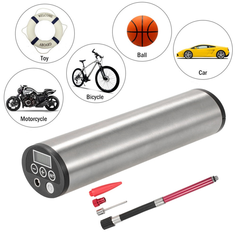 150PSI Rechargeable Electric Portable Car Cycling Bicycle Bike Pump Tire Tyre Inflator Auto Air Compressor with