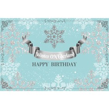 Laeacco Happy Birthday Snowflakes Celebration Baby Portrait Stage Scene Photo Background Photographic Backdrop For Studio