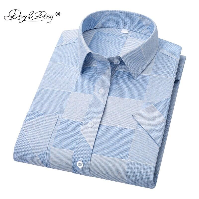 DAVYDAISY 2019 New Arrival High Quality Summer Men Shirt Short Sleeve Shirts Man Print Shirt Male Brand Soft Clothes DS319