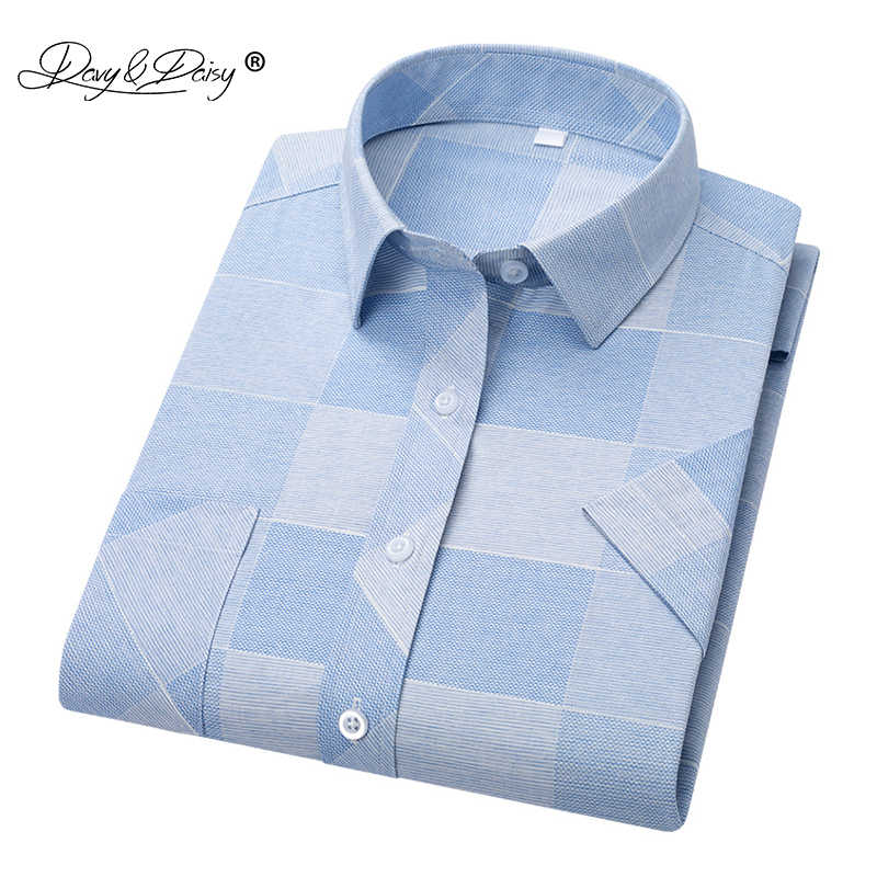 DAVYDAISY 2019 New Arrival High Quality Summer Men Shirt Short Sleeve Shirts Man Print Shirt Male Brand Soft Clothes DS319