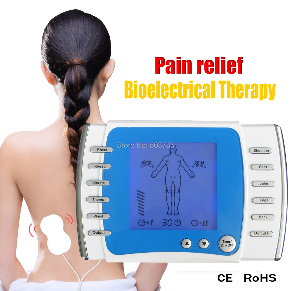 English Voice Guider Dual Channel Electronic Pulse Therapy Massager TENS Unit Massage Relax Muscle Stimulation Foot