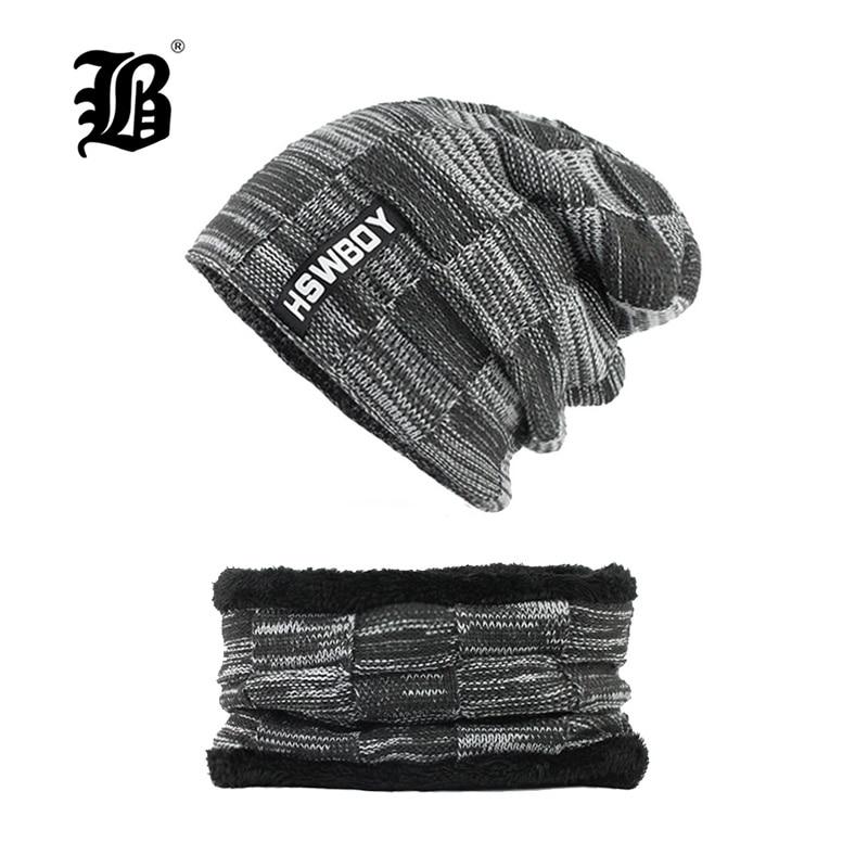 [FLB] Winter Hats Skullies Beanies Hat Winter Beanies For Men Women Wool Scarf Caps Balaclava Mask Gorras Bonnet Knitted F18002