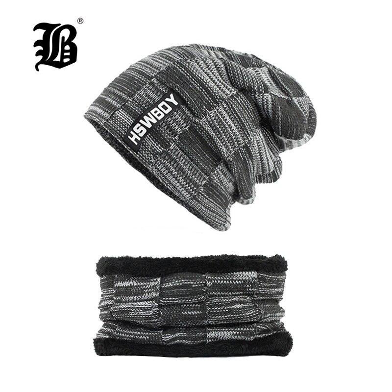 [FLB invierno sombreros, gorros, gorros de lana de invierno sombrero para las mujeres de los hombres, bufanda de lana Gorras Balaclava máscara Gorras sombrero de F18002