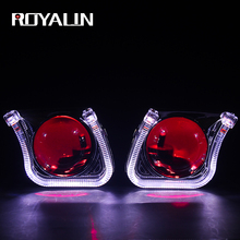 ROYALIN Mini Xenon Lens H1 Projector Headlight 2.5 Metal Lens w/ U  Car Styling LED Light Shrouds for H4 H7 Auto Lamp Retrofit