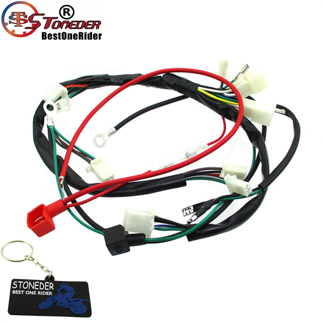 US $11.45 19% OFF|STONEDER Wiring Harness Loom For Zongshen 190cc Electric on