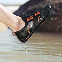 Mens Climbing Sneakers Five Fingers Hiking Water Shoes Non-Slip Outdoor Water Shoes Unisex Trainers Summer Aqua Shoes For Women runner print slip on water trainers