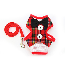 Super pretty bowtie tuxedo-style yorkie harness with leash