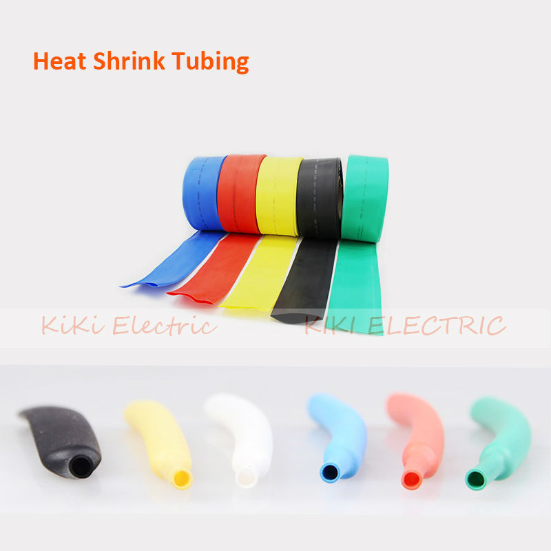 wholesale and retail!1KV 18mm Dia. Heat Shrinkable Tube Black Shrink Tubing 100M/roll Heat shrink tubing for wire protect