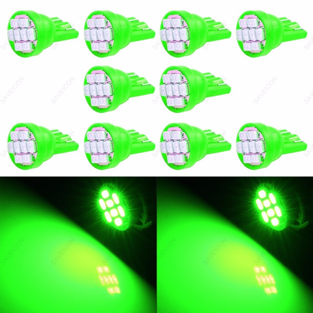 Lampada 8 Led - Placa Teto Meia Luz T10 - Super Potente Para Carro (Branco /vermelh /amarelo /verde/ azul /azul de gelo