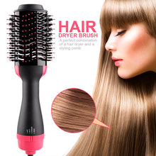 Electric Hair Dryer Brush 2 In 1 Hair Straightener Curler Comb Blow Dryer With Comb Hair Brush Roller Styler blow electric hair dryer brush multifunction hot air styling brush comb negative ion generator hair straightener curler styler