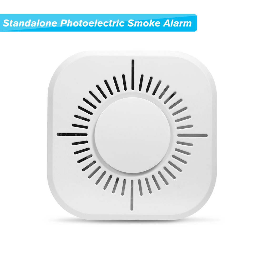 Standalone Photoelectric Smoke Alarm High Sensitive Wireless Alarm System Security Independent Smoke Detector Fire Protection soccer-specific stadium