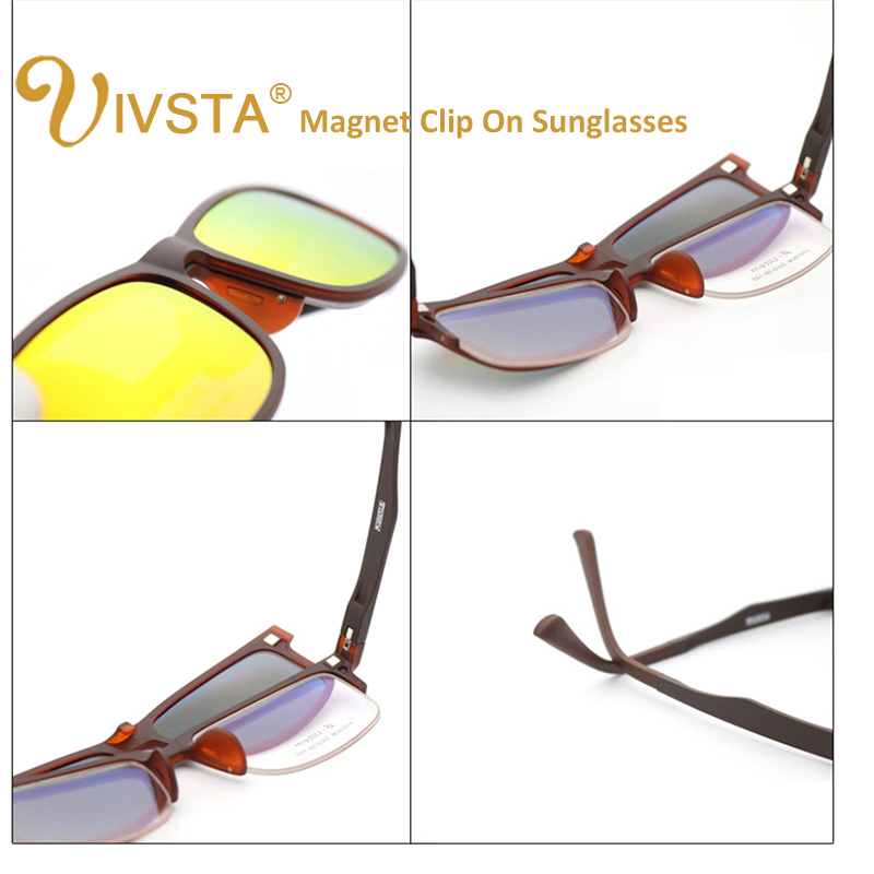 043c6133269 IVSTA High Quality ULTEM Clip On Sunglasses Men Polarized Lenses Magnetic  Clips Magnet Eyewear Myopia Spectacle Optical Frame-in Sunglasses from  Apparel ...