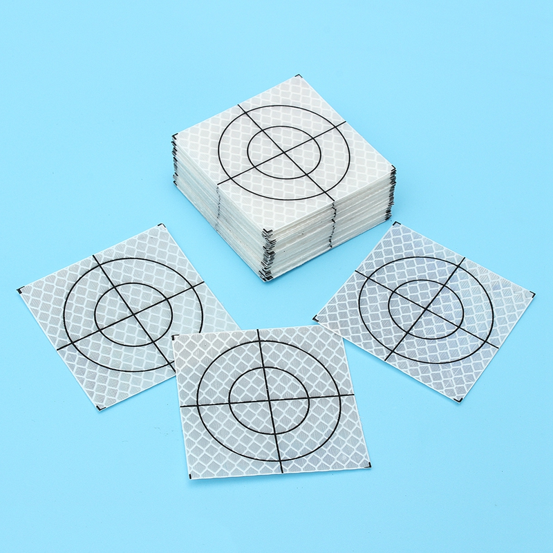 100 PCS REFLECTIVE SHEET 60X60 MM REFLECTIVE TAPE TARGET FOR TOTAL STATION