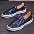 New Men's Rivets Loafers Fashion Men Casual Moccasines Hombre Male Genuine Leather Loafer Driving Shoes Flats Party Shoe