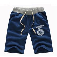 Deportes corriendo Мужской хлопка случайные буквы колен шорты мужчины марка летняя мода плюс размер 6 цвета Черный одежды D020