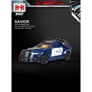 Image 5 - BMB Transformation G1 Barricade TF5 Polic Car Model voyager Oversize Action Figure Toys