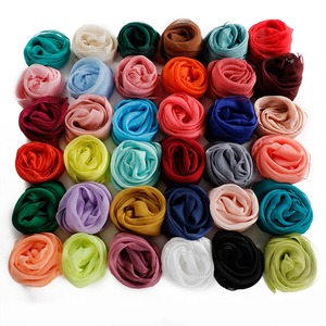 Solid Women Scarf Faux Silk Square Neck Scarves Men Bandana Hip Hop Handkerchief Rings Female Bufanda Mujer for Boys Girls Gift