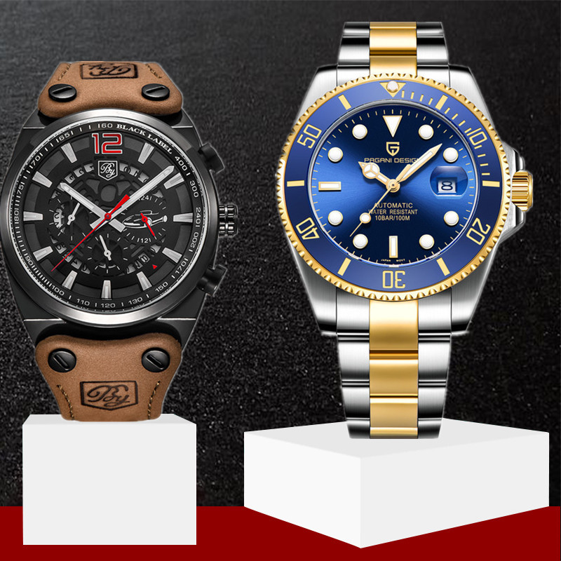 PAGANI Design Brand New Classic Luxury Men Automatic Watches Stainless Steel Waterproof Mechanical Watch Relogio Masculino+BoxPAGANI Design Brand New Classic Luxury Men Automatic Watches Stainless Steel Waterproof Mechanical Watch Relogio Masculino+Box