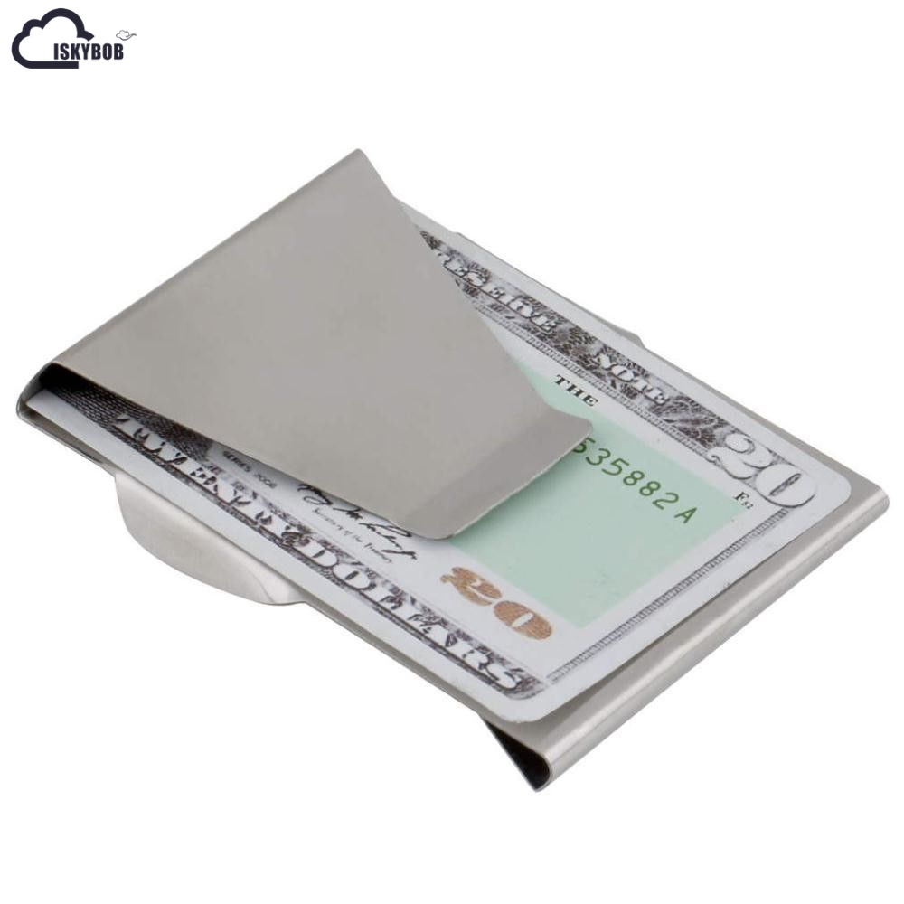 Exquisite Metal Money Clip Slim Bill Clips Card Holder Wallet For Men and Women
