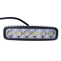 SUV Car Flood Head 18W LEDs Work Bar Lights Lamp Running Lights For Motorcycle Driving Truck