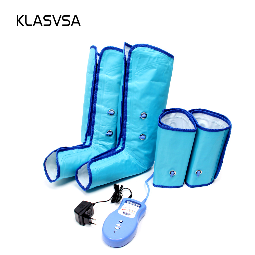 KLASVSA Air Compression Leg Foot Massager Wraps Regular Ankles Calf Physical Therapy Promote Blood Circulation Health Care Relax цены