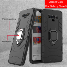 Luxury Armor Ring Cases for Samsung Galaxy Note 9 8 J2 Pro A8 Plus J4 J6 A7 2018 S8 S9 A6 Plus Anti-Fall Rubber Hard Back Cases