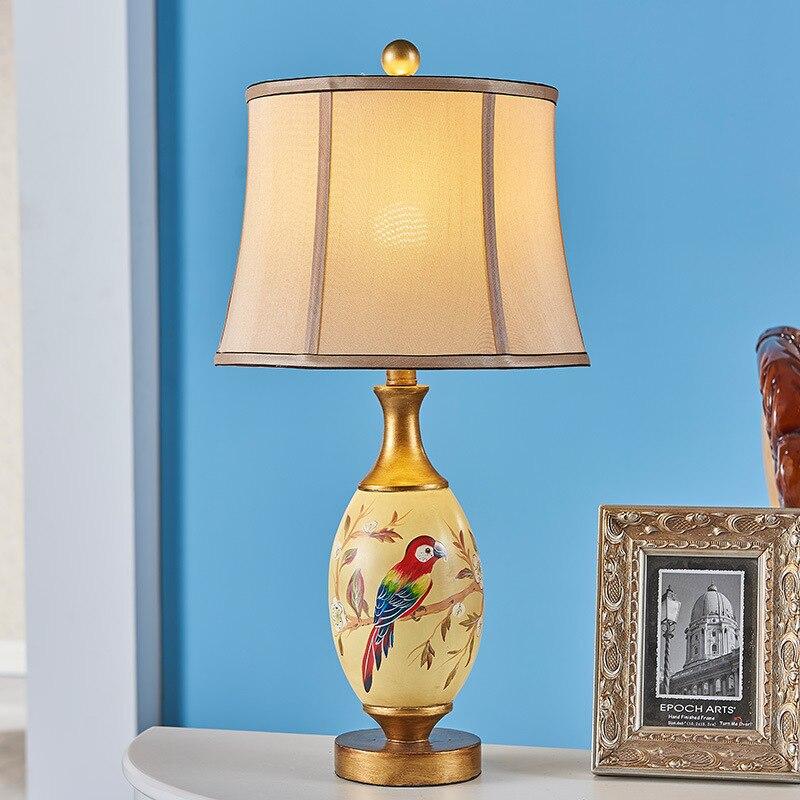 Туда Бесплатная доставка живопись смолы настольная лампа творческая личность настольная  ...