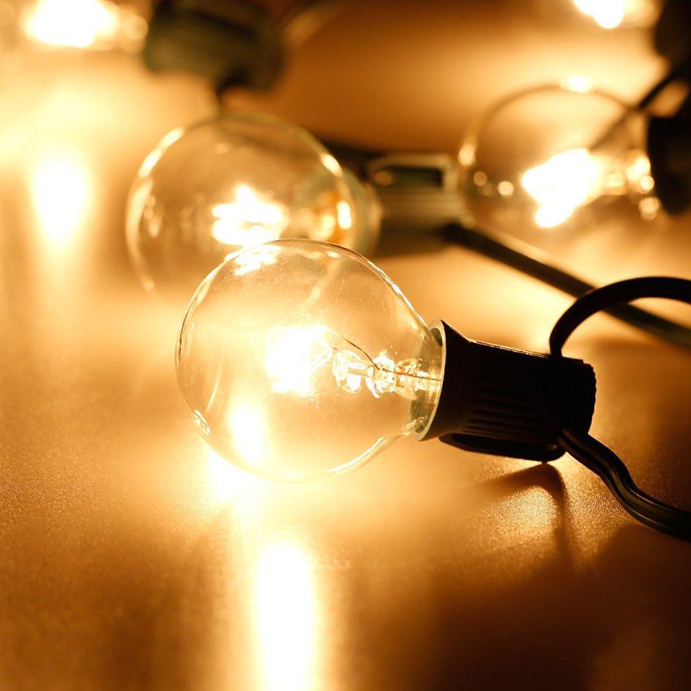 Drita e Krishtëlindjes së Stilit Evropian G40 me kabllo të zezë - Ndriçimi i pushimeve - Foto 5