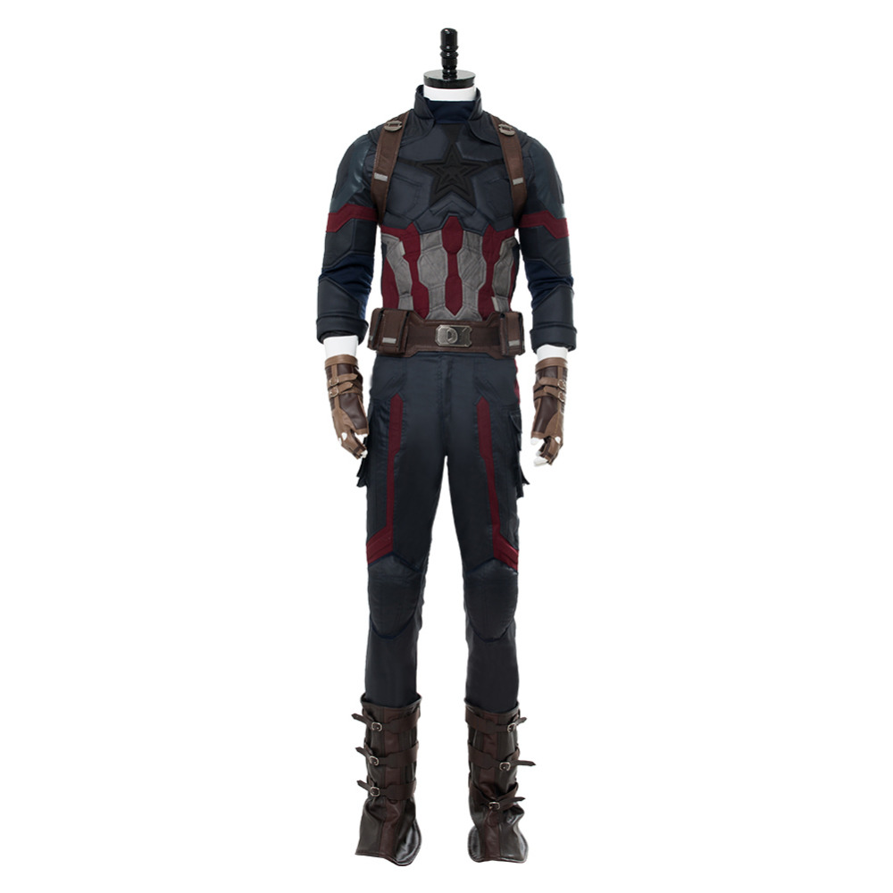 Cosplay Costume Avengers: Infinity War Captain America Steven Rogers Cosplay Costume New Version For Adult Men Halloween