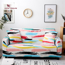 Slowdream Colorful Sofa Cover 1/2/3/4Seat Couch Cover Nordic Single Double Home Decor Stretch Elastic Band Removable  Slipcover slowdream nordic style sofa cover elastic band couch cover stretch furniture single chair double love seat decor home slipcover