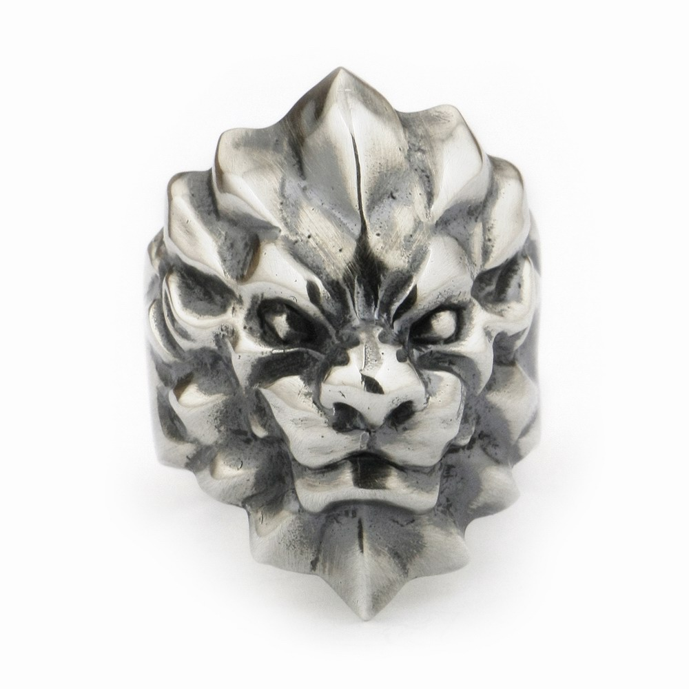 USA Located 925 Sterling Silver Abstract King Lion Ring Mens Biker Rock Punk Ring TA01 4PXUSA Located 925 Sterling Silver Abstract King Lion Ring Mens Biker Rock Punk Ring TA01 4PX
