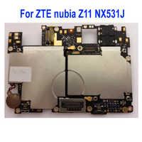 100% Original utilisé testé carte mère déverrouillée pour ZTE nubia Z11 NX531J carte mère 64 GB ROM carte mère frais de Circuits câble flexible